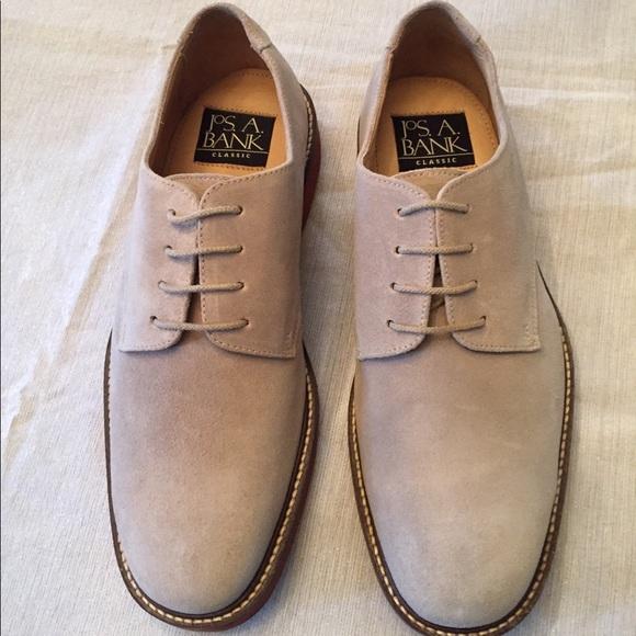New Jos A Bank Men Tan Suede Buck Shoes